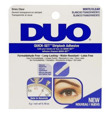 DUO KLEJ DO RZĘS CLEAR WHITE QUICK SET 5G BLUE
